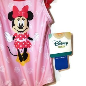NWT DISNEY Baby girl swimsuit minnie mouse